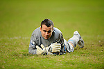 SO KON PO, HONG KONG - JULY 30: Shay Given of Aston Villa lies on the picth during the Asia Trophy Final match against Chelsea at the Hong Kong Stadium on July 30, 2011 in So Kon Po, Hong Kong.  Photo by Victor Fraile / The Power of Sport Images