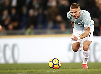 Calcio, Serie A: Lazio - Genoa, Roma, Stadio Olimpico, 5 Febbraio 2018. <br /> Lazio's Ciro Immobile in action during the Italian Serie A football match between Lazio and Genoa at Rome's Stadio Olimpico, February 5, 2018.<br /> UPDATE IMAGES PRESS/Isabella Bonotto