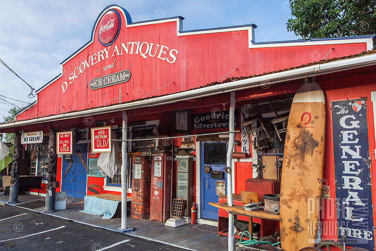 Discovery Antiques and Ice Cream shop in Kealakekua, Big Island.