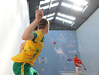 21st September 2013; Evan Sheridan, Meath, in action in the minor doubles final. GAA Handball, All-Ireland Finals, Broadford Handball Club, Co Limerick. Picture credit: Tommy Grealy/actionshots.ie.