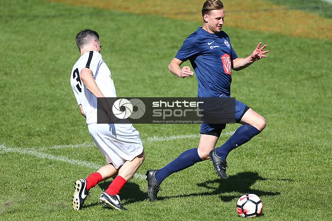 NELSON, NEW ZEALAND - SEPTEMBER 29:  Get Ballsy charity Football game Trafalgar  park on September 29 2018 in Nelson, New Zealand. (Photo by: Evan Barnes Shuttersport Limited)