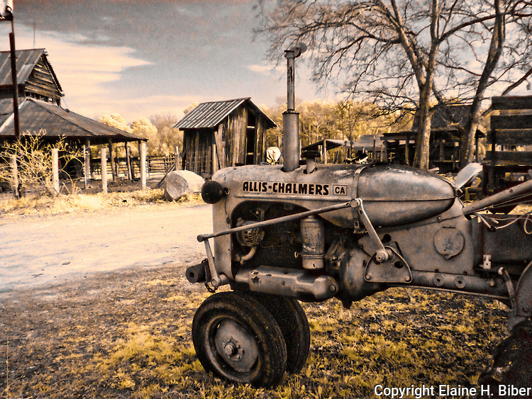 Allis-Chalmers tractor, old barn
