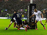 8th February 2020; Murrayfield Sadium, Edinburgh, Scotland; International Six Nations Rugby, Scotland versus England; The try from Owen Farrell (capt) of England which was disallowed