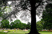 Photography of the Quail Hollow Championship golf tournament 2009. The event, formerly called the Wachovia Championship, is a top event on the PGA Tour, attracting such popular golf icons as Tiger Woods, Vijay Singh and Bubba Watson. The third round in the Quail Hollow Championship golf tournament at the Quail Hollow Club in Charlotte, N.C., Saturday, May 02, 2009.