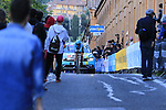 Dario Cataldo (ITA) Astana Pro Team on the San Luca climb during Stage 1 of the 2019 Giro d'Italia, an individual time trial running 8km from Bologna to the Sanctuary of San Luca, Bologna, Italy. 11th May 2019.<br /> Picture: Eoin Clarke | Cyclefile<br /> <br /> All photos usage must carry mandatory copyright credit (© Cyclefile | Eoin Clarke)