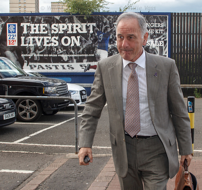 Charles Green arrives at Ibrox Stadium to address staff as the HMRC vetoed any plans for a CVA