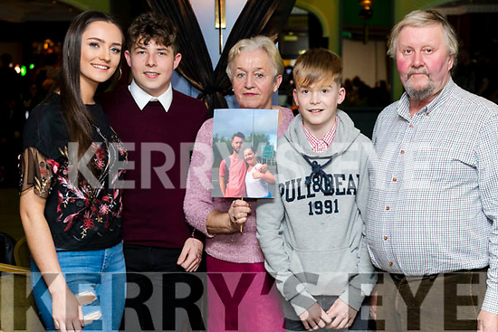 Niamh Enright, John Kennelly, Peggy Quilter, Tadgh O'Connor and John Quilter at the John Mitchels GAA 'Strictly Come Dancing' at Ballygarry House Hotel on Sunday night.