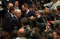 Montreal (qc) CANADA - Oct 3rd 2000 file Photo- Funeral of former Canadien Prime Minister Pierre Eliott Trudeau : Jimmy Carter