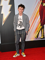 LOS ANGELES, CA. March 28, 2019: Wyatt Oleff at the world premiere of Shazam! at the TCL Chinese Theatre.<br /> Picture: Paul Smith/Featureflash