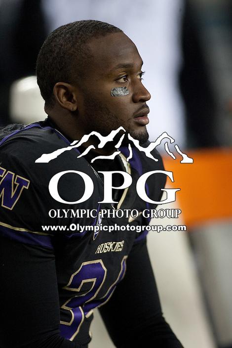 NOV 10, 2012:  Washington's Dezden Petty against Utah.  Washington defeated Utah  34-15 at CenturyLink Field in Seattle, WA...