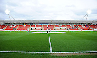 20160408 - ROTHERHAM , ENGLAND : illustration picture from the AESSEAL New York Stadium before the female soccer game between England and The Belgian Red Flames - Belgium , the fourth game in the qualification for the European Championship in The Netherlands 2017  , Friday 8 th April 2016 at AESSEAL New York Stadium in Rotherham , England . PHOTO DAVID CATRY