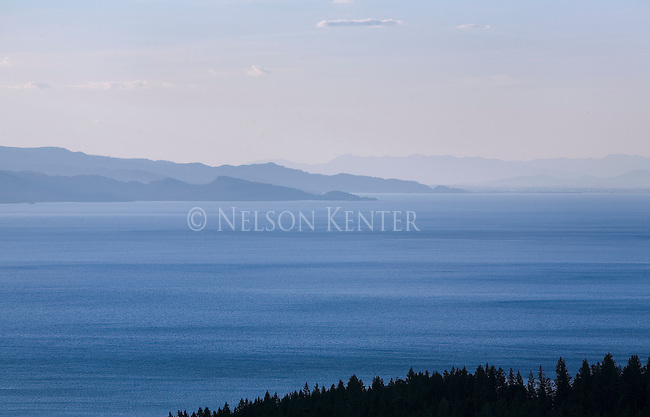 The blues of Flathead Lake in western Montana