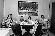 Russellville, AR. September 1980.<br /> Mr. Ashley (32), his wife Irene (25) and his children Sheila, Shelby, Phillip and Sherry, live in Arkansas. He used to work at the Firestone factory but is now unemployed since the closing of the factory in Russellville, AR.