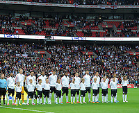 29.05.2013 London, England. The England squad line out for their national anthem before the International Friendly between England and Republic of Ireland from Wembley Stadium.