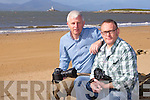WILD ATLANTIC WAY: Winners of the Wild Atlantic Way photo competition at Fenit beach on Monday l-r: Domnick Walsh, The Kerries and Kirk Kelly, Fenit