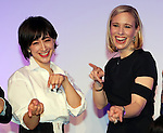 December 13, 2016, Tokyo, Japan - Online photo and video sharing SNS Instagram chief operating officer (COO) Marne Levine of the United States poses with Japanese animal welfare promoter Christel Takigawa at a promotional event of Instagram in Tokyo on Tuesday, December 13, 2016. Levine is now here to attend the World Assembly for Women (WAW!).  (Photo by Yoshio Tsunoda/AFLO) LWX -ytd-