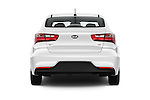 Straight rear view of 2016 KIA Rio LX-AT 4 Door Sedan Rear View  stock images