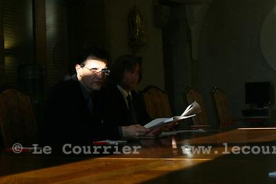 Genève, le 31.01.2007.Charles Beer conseiller d'état au DIP..© Le Courrier / J.-P. Di Silvestro