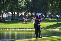 Phil Mickelson (USA) chips on to 7 after hitting his tee shot in the water on 7 during round 1 of the World Golf Championships, Mexico, Club De Golf Chapultepec, Mexico City, Mexico. 2/21/2019.<br /> Picture: Golffile | Ken Murray<br /> <br /> <br /> All photo usage must carry mandatory copyright credit (© Golffile | Ken Murray)