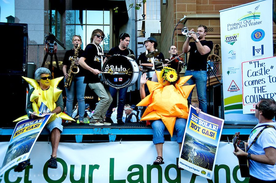 Rally: Protect our land and water, Stop CSG, Tuesday May 1. Sydney Residents Against Coal Seam Gas, Occupy Sydney, NSW farmers, conservationists, wine growers, horse breeders, Stop CSG groups, GetUp, the NCC, and the Country Womens Association protest the NSW Government's open slather approach to Coal Seam Gas and irresponsible mining.