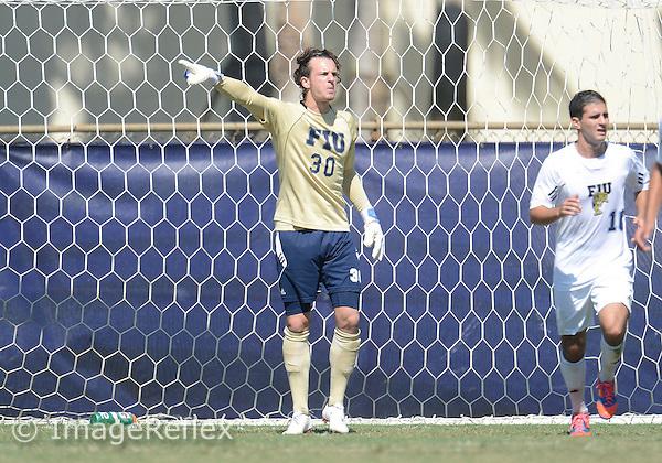 2dc8d3bf5c55f2 Florida International University men s soccer goalkeeper Robin Spiegel (30)  plays against the University of