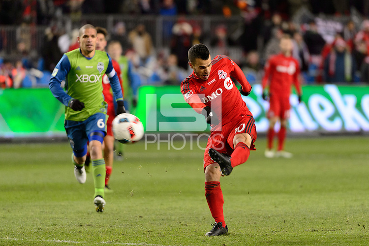 Toronto, ON, Canada - Saturday Dec. 10, 2016: Sebastian Giovinco during the MLS Cup finals at BMO Field. The Seattle Sounders FC defeated Toronto FC on penalty kicks after playing a scoreless game.