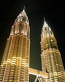 MALAYSIA, Kuala Lumpur, illuminated Petronas tower at night
