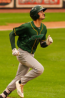 Beloit Snappers first baseman Luke Persico (8) during a Midwest League game against the Wisconsin Timber Rattlers on August 30, 2017 at Fox Cities Stadium in Appleton, Wisconsin. Wisconsin defeated Beloit 4-0. (Brad Krause/Four Seam Images)