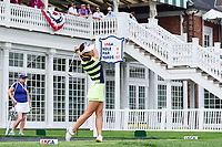 Hyo Joo Kim (KOR) watches her tee shot on 16 during Wednesday's preview of the 72nd U.S. Women's Open Championship, at Trump National Golf Club, Bedminster, New Jersey. 7/12/2017.<br /> Picture: Golffile | Ken Murray<br /> <br /> <br /> All photo usage must carry mandatory copyright credit (&copy; Golffile | Ken Murray)