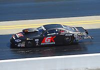 Apr. 14, 2012; Concord, NC, USA: NHRA pro stock driver Erica Enders during qualifying for the Four Wide Nationals at zMax Dragway. Mandatory Credit: Mark J. Rebilas-