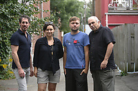 August 6, 2012 File Photo - Montreal (Quebec) CANADA -  Cast of Quebec movie CAMION directed by Raphael Ouellet. IN PHOTO<br />  : Stephane Breton ?,  Rafael Ouellet<br /> and Julien Poulin <br /> <br /> <br /> <br /> <br /> <br /> PHOTO :  Agence Quebec Presse