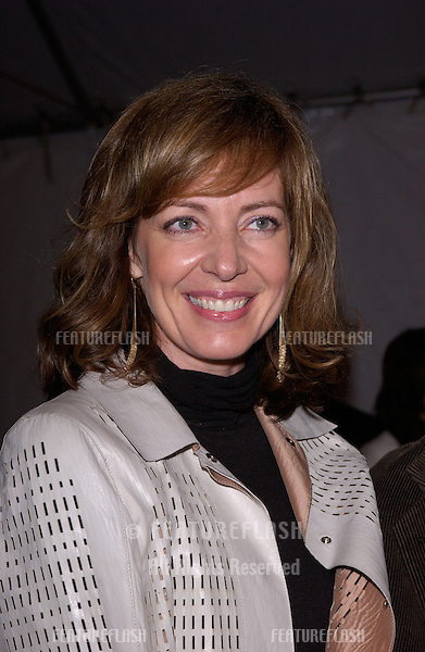 """Feb 22, 2005: Los Angeles, CA: Actress ALLISON JANNEY at General Motors 4th Annual """"ten"""" fashion show in Hollywood.."""