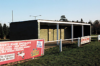 Covered area at Beaconsfield United FC Football Ground, Holloways Park, Slough Road, Beaconsfield, Buckinghamshire, pictured on 11th January 1992
