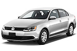 Front three quarter view of a 2012 Volkswagen Jetta S Sedan .