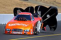 Jul. 27, 2013; Sonoma, CA, USA: NHRA funny car driver Johnny Gray during qualifying for the Sonoma Nationals at Sonoma Raceway. Mandatory Credit: Mark J. Rebilas-