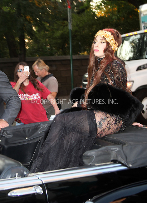 WWW.ACEPIXS.COM......September 13 2012, New York City....Musician Lady Gaga arrives at her perfume launch at the Guggenheim Museum on September 13 2012 in New York City......By Line: Zelig Shaul/ACE Pictures......ACE Pictures, Inc...tel: 646 769 0430..Email: info@acepixs.com..www.acepixs.com