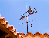 Weather vane at Scotty's Castle. Death Valley National Park, California