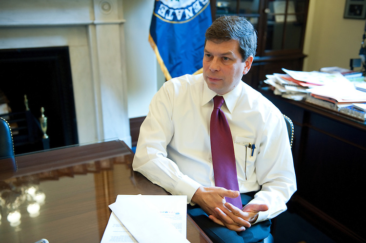 UNITED STATES - DEC. 10:  Mark Begich, D-Ak., during an interview in his office in the Russell Senate Office Building. (Photo By Douglas Graham/Roll Call)
