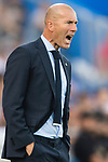 Manager Zinedine Zidane of Real Madrid reacts during the La Liga 2017-18 match between Getafe CF and Real Madrid at Coliseum Alfonso Perez on 14 October 2017 in Getafe, Spain. Photo by Diego Gonzalez / Power Sport Images
