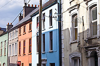 Brightly coloured buildings in Youghal, County Cork, Southern Ireland