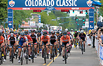August 10, 2017 - Colorado Springs, Colorado, U.S. -  The women's peloton completes their first lap in the opening stage of the inaugural Colorado Classic cycling race, Colorado Springs, Colorado.