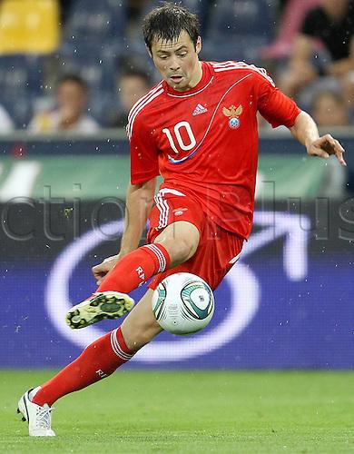 07.06.2011 International Friendly from Salzburg in Austria. Cameroon v Russia. Picture shows Diniyar Bilyaletdinov RUS