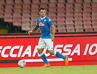 Christian Maggio   durante l'incontro di calcio di Serie A   Napoli -Sampdoria allo  Stadio San Paolo  di Napoli , 30 Agosto 2015