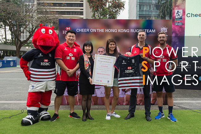 Cheer on the Hong Kong Rugby Team Competition Awards Ceremony at the Sevens Village during HSBC Hong Kong Rugby Sevens 2016 on 07 April 2016 at Hong Kong Stadium in Hong Kong, China. Photo by Kitmin Lee / Power Sport Images