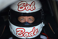 May 18, 2012; Topeka, KS, USA: NHRA funny car driver Bob Bode during qualifying for the Summer Nationals at Heartland Park Topeka. Mandatory Credit: Mark J. Rebilas-