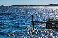 Brygga på Dalarö i Stockholms skärgård. / Bridge on Dalarö in the Stockholm archipelago.