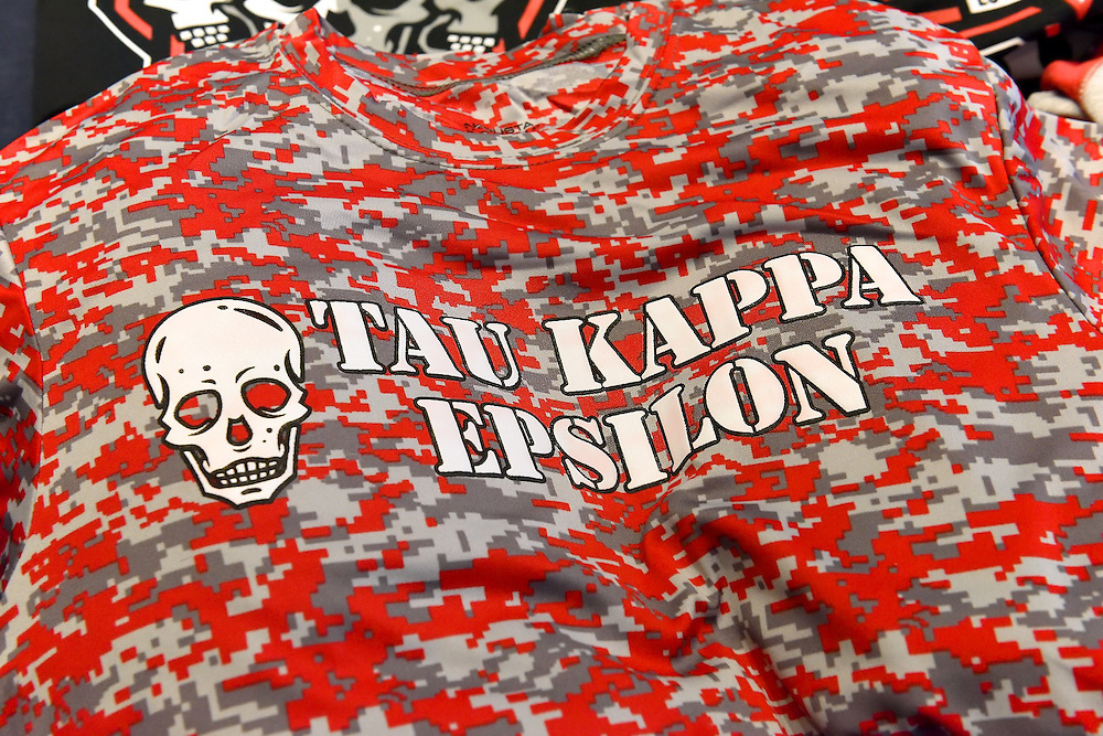 Tee shirt with Tau Kappa Epsilon logo.