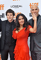08 September 2018 - Toronto, Ontario, Canada - Jesse Eisenberg, Salma Hayek. &quot;The Hummingbird Project&quot; Premiere - 2018 Toronto International Film Festival held at the Princess of Wales Theatre. <br /> CAP/ADM/BPC<br /> &copy;BPC/ADM/Capital Pictures