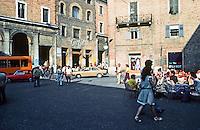 Urbino:  Piazza Della Repubblica--where the action is.  Photo '83.