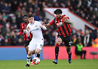 29th February 2020; Vitality Stadium, Bournemouth, Dorset, England; English Premier League Football, Bournemouth Athletic versus Chelsea; Mason Mount of Chelsea competes for the ball with Philip Billing of Bournemouth